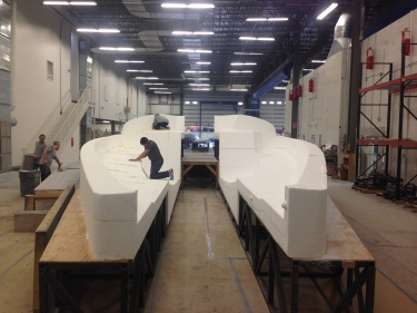 Rough cut on the Class 40 Deck Direct-to-Mould female tooling